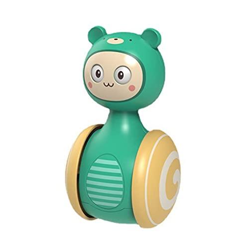 DDyna Vaso Deslizante Campana Sonajero Juguetes Infantiles Dibujos Animados Roly-Poly Aprendizaje Educativo Juguetes para niños Tumbler Campana móvil Juguete
