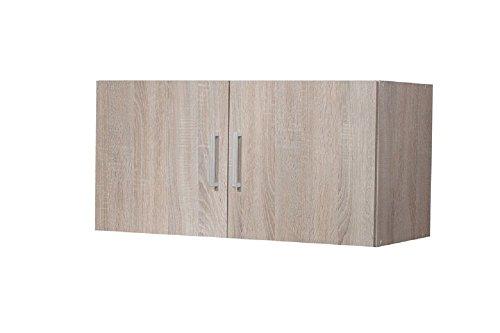 """Aufsatz-/Hängeschrank """"Veronika 3"""", Sonoma Eiche, 2 Türen, 80 x 40 x 39 cm, Aufbewahrungsschrank, Mehrzweckschrank, Haushaltsschrank"""