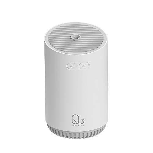 hiying888 Q3 humidificateur Mini Haute Puissance Maison Chambre humidimètre 320 ML Petit humidificateur Portable