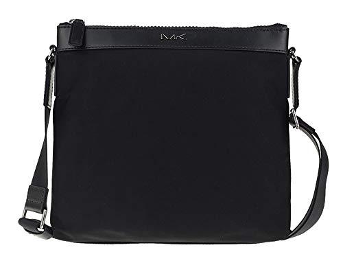Michael Kors Jet Set Kent Black Nylon Large Messenger Crossbody Bag Handbag