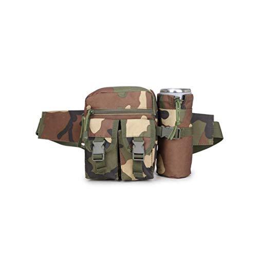 Tragbarer Tactical Kettle Hüfttasche Praktische Flaschenhalter Hüfttasche Multifunktions-Militär Kettle Taillen-Beutel für Outdoor-Dschungel Tarnung