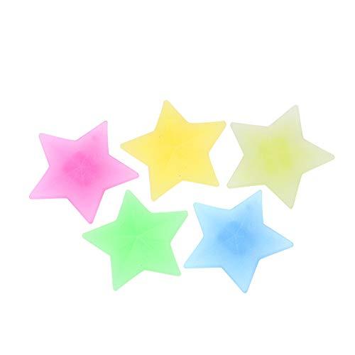 Tbest Vélo a parlé Perle, Rayons de Roue de vélo, Roue de vélo a parlé des Perles, Enfants en Plastique coloré Roue de vélo a parlé des Clips de Perle décoration de Rayon de vélo(36PCS-Pentagram)