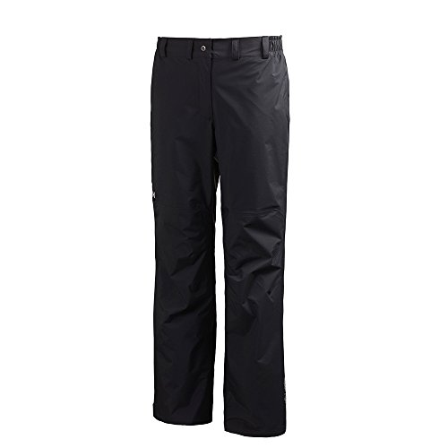 Helly Hansen W Packable, Pantalone Impermeabile Donna, Nero, L