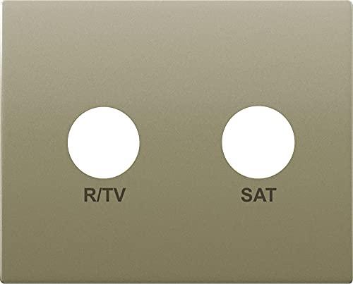 BJC EF-22320-DM Mega R/TV-SAT Tapa de Toma de Corriente, Dorado Malta