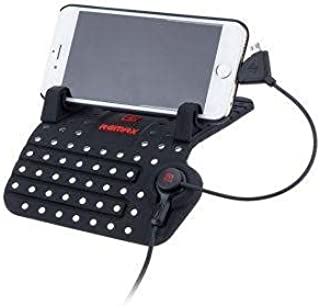 Mobile holder for the car with a USB connection
