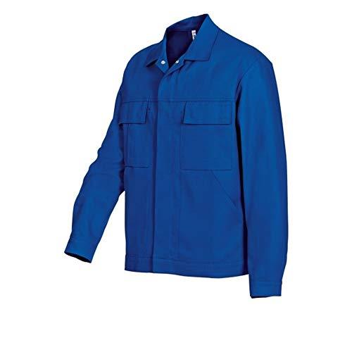 BP 1485-060-13-52/54 Arbeitsjacke, Verdecktes Druckknopfband und Taschen, 300,00 g/m² Reine Baumwolle, Königsblau, 52/54