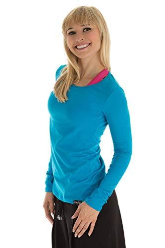 Winshape WS1 Tee-Shirt à Manches Longues pour Femme Coupe étroite pour Loisirs et Sport XL Turquoise - Turquoise