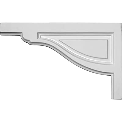 Ekena Millwork SB11X07TR-L 11 3/4-Inch W by 7 3/8-Inch H by 1/2-Inch D Large Traditional Stair Bracket