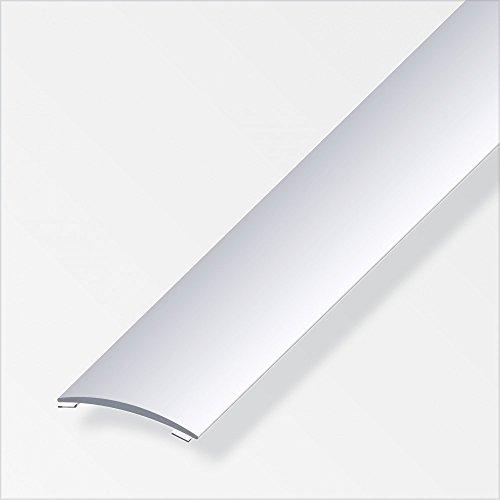 Übergangsschiene gewölbt/selbstklebend 40mm silber eloxiert