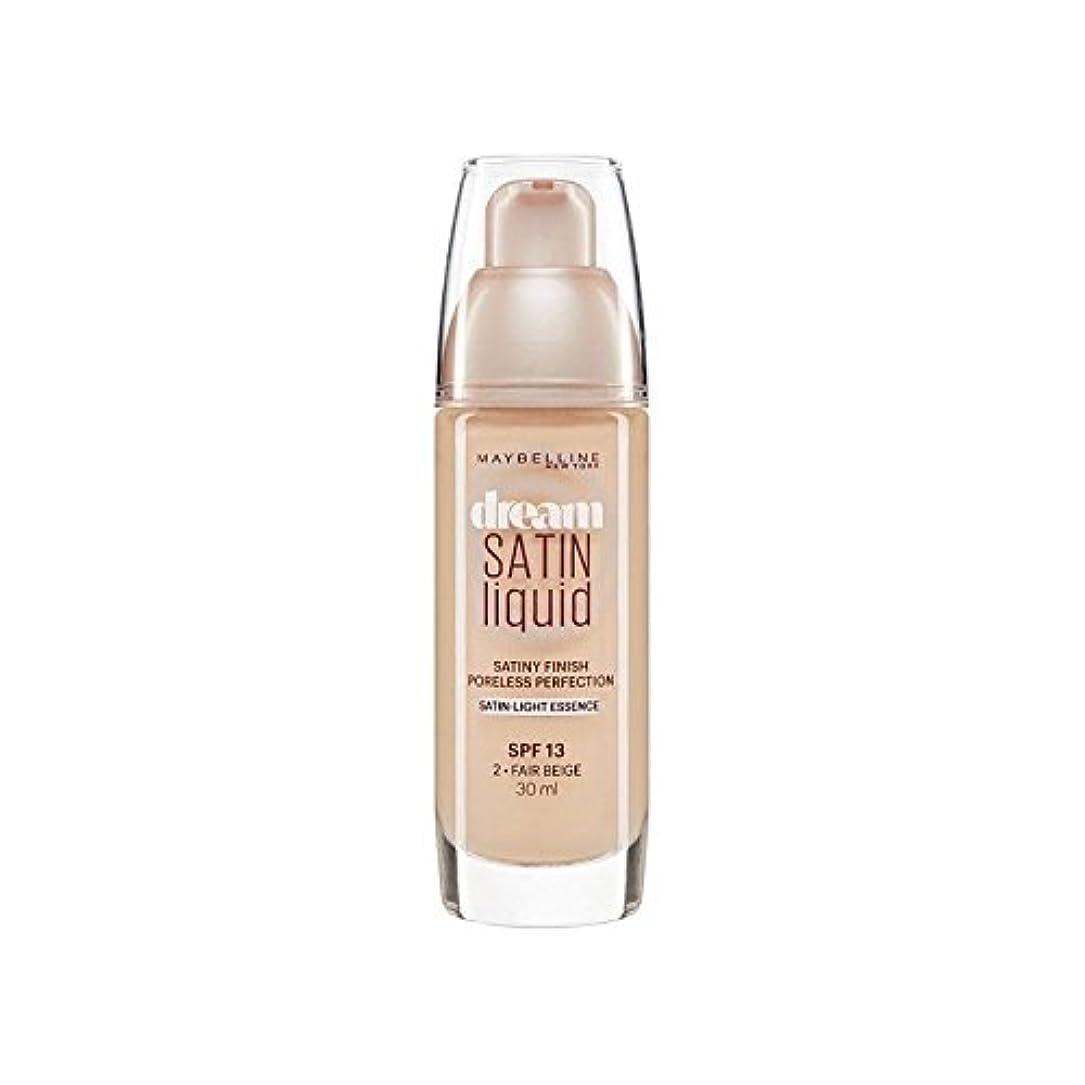 リベラルお尻びっくりしたMaybelline Dream Satin Liquid Foundation 02 Fair Beige 30ml (Pack of 6) - メイベリン夢サテンリキッドファンデーション02フェアベージュ30ミリリットル x6 [並行輸入品]