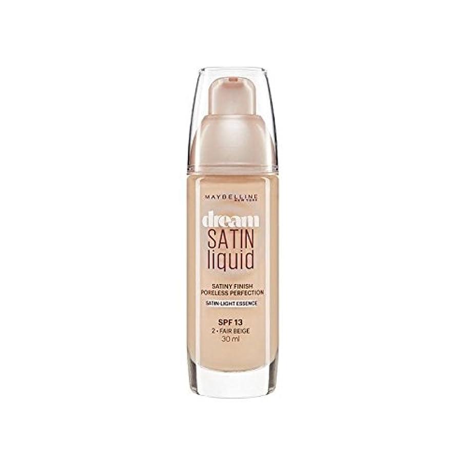 デザートタフ洗剤Maybelline Dream Satin Liquid Foundation 02 Fair Beige 30ml - メイベリン夢サテンリキッドファンデーション02フェアベージュ30ミリリットル [並行輸入品]
