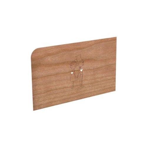 Holz-Grußkarte 'Hochzeitspaar'