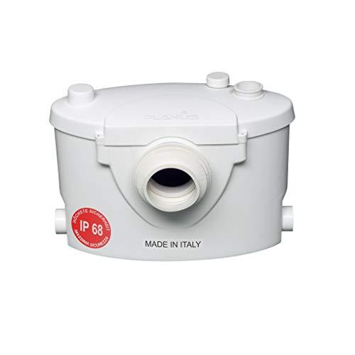 Planus SpA Planus Broysan 4 Hebeanlage wc zertifizierter IP68, Schmutzwasserpumpe - Made in Italy, 230 V, Weiß