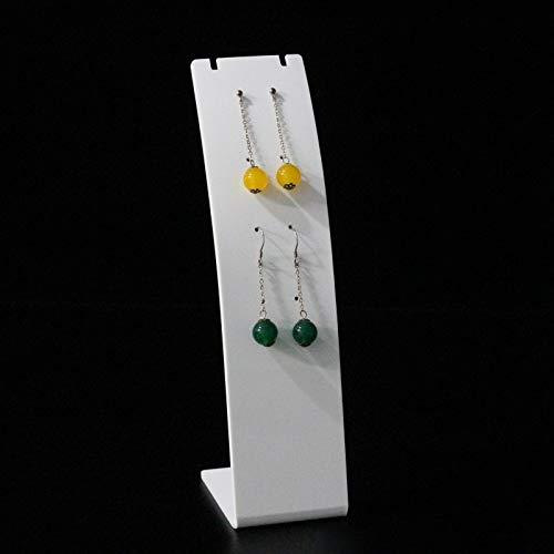 2020 YXWEI Pendiente de acrílico Collar sostenedor de la exhibición del Estante de exhibición Mostrando L Collar del Soporte del Pendiente de la Caja L Pendiente Organizador (Color : Clear drawline)