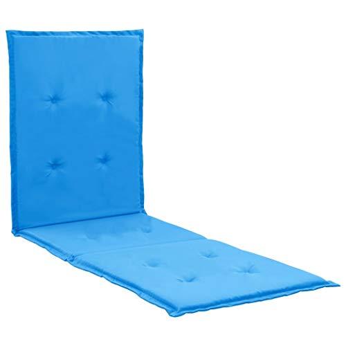 vidaXL Cojín para tumbona azul 180x55x3 cm