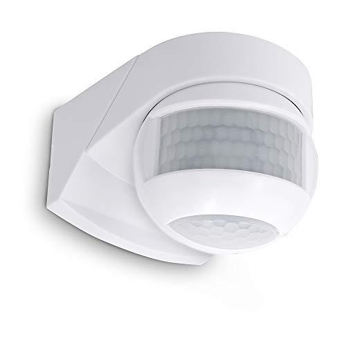 SSC-LUXon KELEA Bewegungsmelder Außenbereich IP54 für Wand, Decke & Ecken - PIR Sensor einstellbar schwenkbar mit Dämmerungssensor