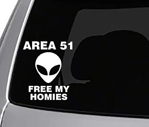 Seek Racing Area 51 Free My Homies Decal CAR Truck Window Bumper Sticker Funny Joke Meme Cant Stop US All