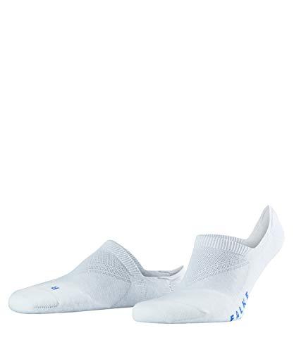 FALKE Unisex Cool Kick Invisible, - Ultraleichte Plüschsohle, Rutschfest durch Silikon im Fersenbereich ,1er pack, Weiß (White 2000), 46-48 EU