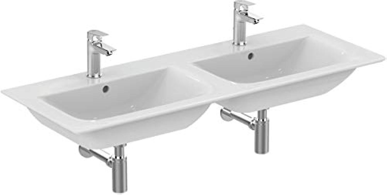 Ideal Standard Mbeldoppelwaschtisch Connect Air, je 1240x460x165mm, Wei, E027301