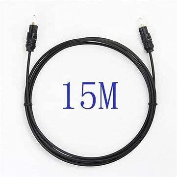 ZTSHBK Cable de Fibra óptica de Audio Toslink Spdif Digital Chapado en...