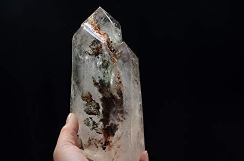 Rare Real Tibetan Himalayan High Altitude Crystal Phantom Rainbow Quartz Twin Cluster 7.67 Inch Spiritual Reiki Healing