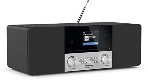 TechniSat DIGITRADIO 3 VOICE - Stereo DAB Radio Kompaktanlage mit offline Sprachsteuerung (DAB+, UKW, CD-Player, USB, Kopfhöreranschluss, AUX-Eingang, Radiowecker, OLED Display, 20 Watt RMS)