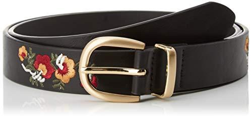 Springfield 5.Gym.CINT.Bord.Flores.Ne-C/01 Cinturón, Negro (Black 1), 85 (Tamaño del fabricante: 85) para Mujer
