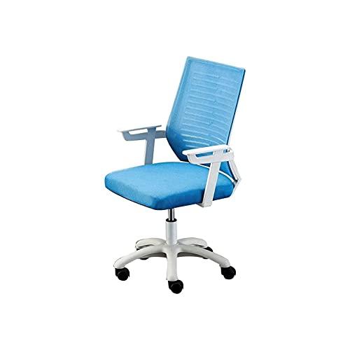 WGLL Silla ergonómica de la Silla de Oficina, Silla Transpirable de la Parte Posterior de la Espalda del diseño con Soporte Ajustable (Azul)