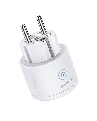 WiFi Steckdose, BlitzWolf 16A Mini Smart Stecker intelligente WLAN Home Steckdose mit App Steuerung + Timing Funktion kompatibel mit Alexa Google Assistant BW Tuya - Kein Stromverbrauch Messen