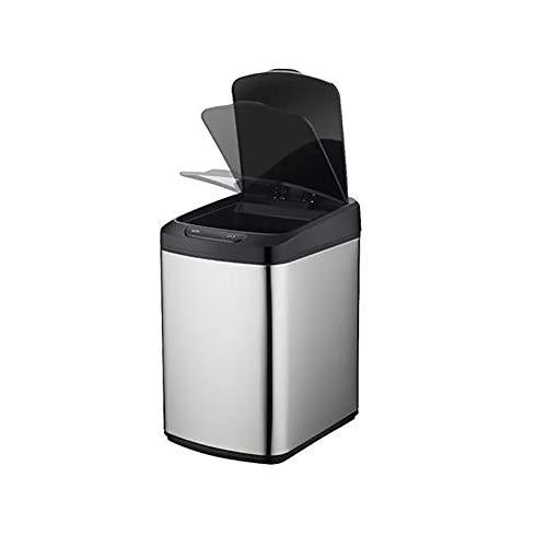 BTASS Automatischer Sensor Mülleimer, Sensor-Kosmetikeimer Mit Deckel for Wohnzimmer Küche Schlafzimmer,Automatische Abfalleimer Intelligente Steuerung Mit Einem klick