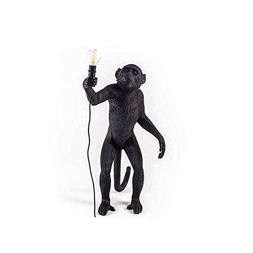 MJY Statues Résine Lampe Singe Lampe Statues Résine Lampe Résine + Support Lumière Salon Chambre Restaurant Chambre Studio Convient, Or gfhdfgsdfsd MJY/Noir