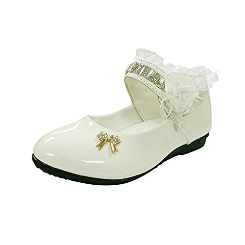 YWLINK Zapatos para NiñOs,Flores Dulces Zapatos PequeñOs Zapatos Solos Zapatos Frescos Zapatos De Princesa Zapatos De Baile,Zapatos de piel estilo universitario,estilo británico,antideslizante