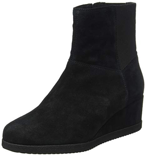 Geox Damen D ANYLLA WEDGE H Ankle Boot, Black, 38 EU