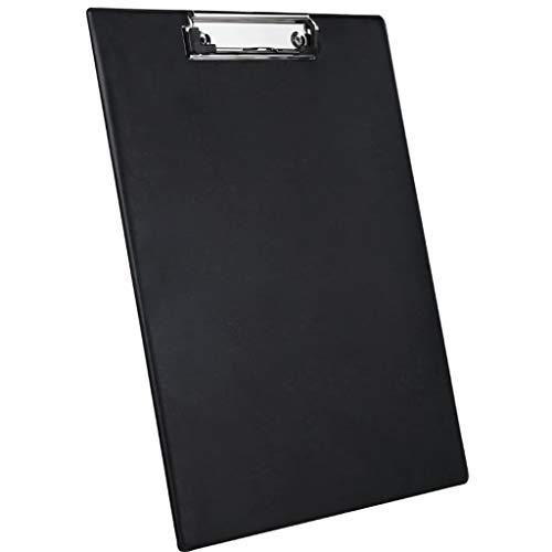 Presse-papier A4 voor schrijfwaren, bedrijf, clip, map, kantoor, tekening, tekenblok, notitieblok, kantoor, school (zwart) Zwart