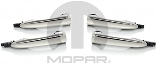 Mopar 82214409 Door Handles, White and Chrome, Set of Four, 4 Pack