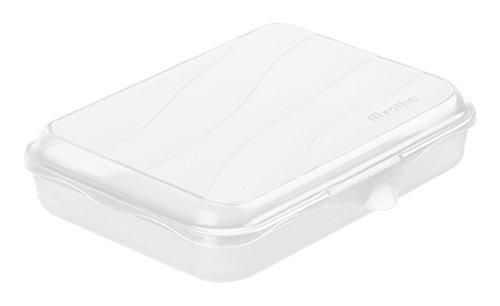 Rotho Funbox Vesperdose 0.75 L, Kunststoff (BPA-frei), transparent, 0.75 Liter (19,5 x 14,5 x 4 cm)
