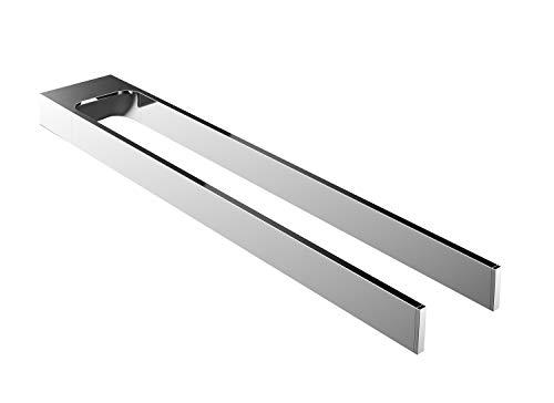 Emco Art Handtuchhalter Chrom, Handtuchstange 2-armig, starr, zur Wandmontage, Länge 443 mm - 165000145, Grau