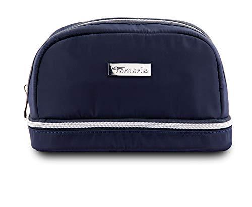 Tamaris Perfect Kosmetiktasche Damen, Schminktasche Groß 23,5 x 14 x 12 cm, Make Up Tasche Mädchen, Navy Blau