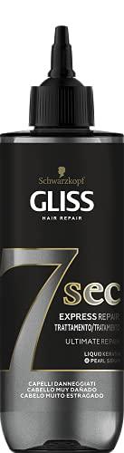Schwarzkopf Gliss - Tratamiento Capilar Fluido Express 7 Segundos con Aclarado, Ultimate Repair, 200 ml, para un Brillo y Reparación Intensa, tan potente como una Mascarilla en solo 7 segundos