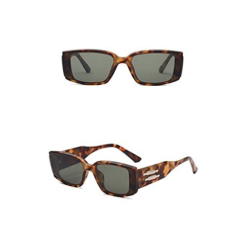 Aetygh Gafas de Sol de Moda para Mujeres y Hombres Lente Cuadrada UV400 (Color : C3, Size : 62mm)