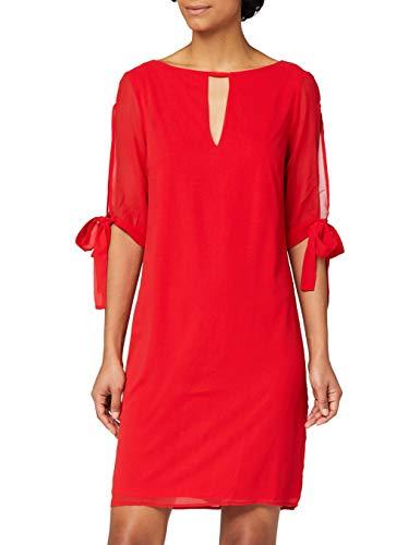 Amazon-Marke: TRUTH & FABLE Damen Chiffon-Kleid mit A-Linie, Rot (Red), 42, Label:XL