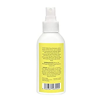 Neutralisateur d'odeur et Anti odeur pour chat par CATLY Stinky Stop I 100ml I destructeur et absorbeur d'odeur I Spray huile essentielle citron I Alternative au désodorisant litière