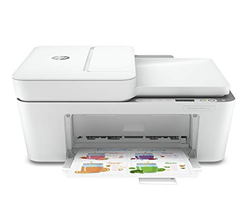 HP DeskJet Plus 4155 Wireless All-in-One Printer | Mobile Print, Scan & Copy | HP Instant Ink Ready | Auto Document Feeder (3XV13A)