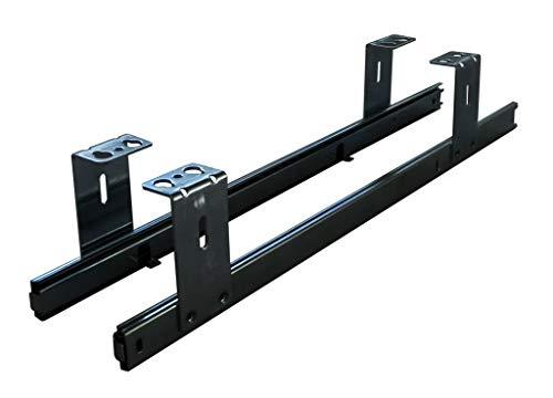 FIX&EASY Tastaturauszug für Tastaturablage, Auszugschienen schwarz 500mm, Auszug für Tastatur Maus Keyboard und Laptop Ablage