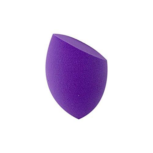 Poudre Puff Beauté Egg Cut Forme Bevel Portable Option Multi-Couleurs sans Latex Outils de Maquillage Beauté Naturelle 1pc Hydrophile Souple (Couleur : Purple)