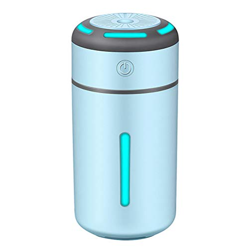 Mini Car Air Purifier Luchtbevochtiger Desktop Pm2.5 7 kleuren lamp aromatherapie USB-oplader Auto Mist Luchtverfrisser voor Car Home,Blue