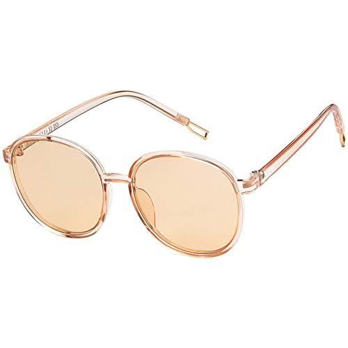 VEVESMUNDO Gafas de sol UV400, de metal, retro, redondas, vintage, grandes, modernas, con espejo, para hombre y mujer