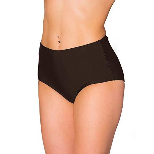 Aquarti Braguitas de Bikini de Talle Alto para Mujer, Marrón, 42