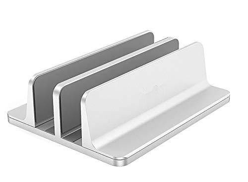 WULAU Ajustable Intervalo Soporte para portátil doppelplatzer Soporte para Todos los Tablet y portátiles MacBook, MacBook Air, MacBook Pro, Ultrabook, Lenovo y Otros, Doble Espacio, Plata