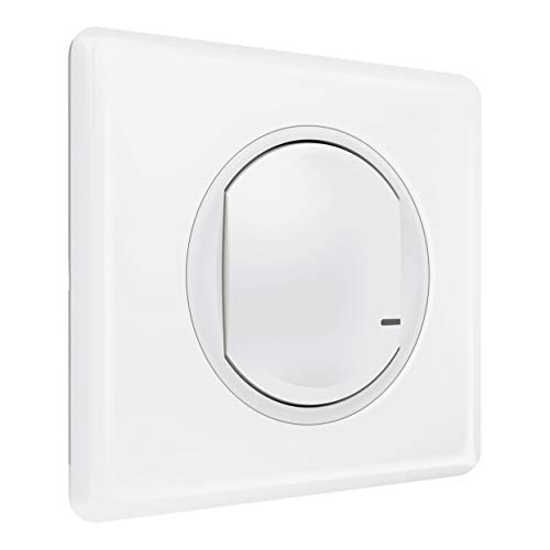 Legrand 067721 Interrupteur Filaire Connecté avec Option Variateur Céliane avec Netatmo, Neutre, Compensateur, 5W à 300W, Blanc
